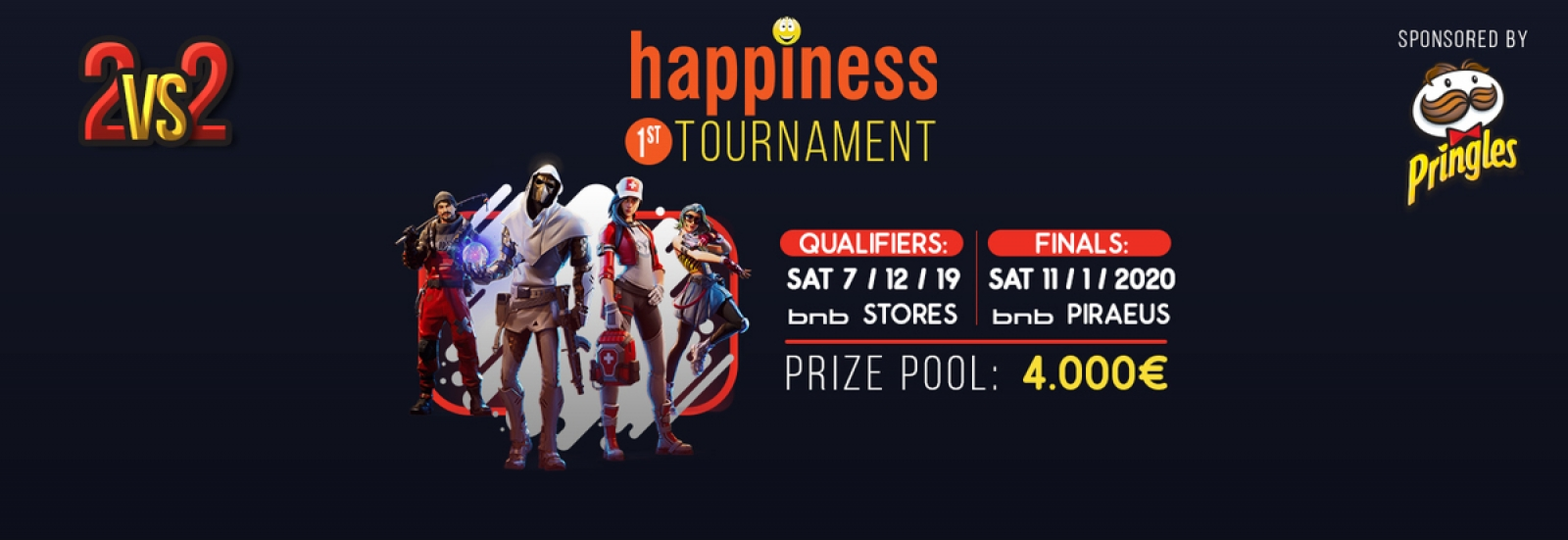 1st happiness Fortnite Tournament sponsored by Pringles