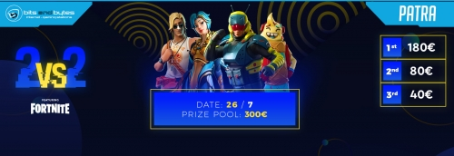 Duo Fortnite Tournament 26/7/19 @ BNB Πάτρα